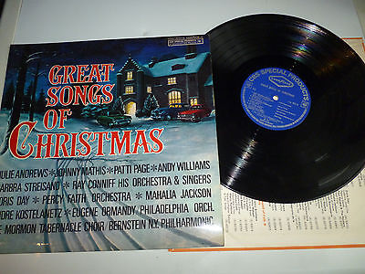 GREAT SONGS OF CHRISTMAS VINYL LP specially created for goodyear