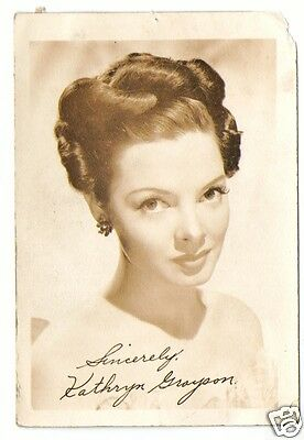 Kathryn Grayson. Actress & Soprano. Show Boat. Signed Autograph (PP) Photograph