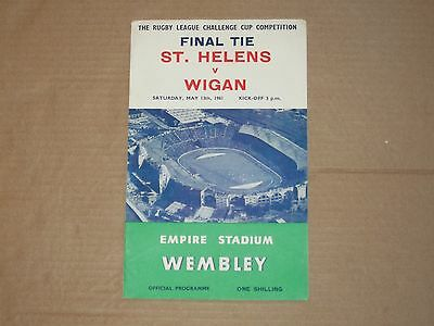 Rugby League Challenge Cup Final 1961 St Helens v Wigan