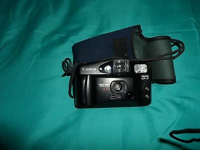 Canon Sure Shot AF-7 35mm Compact Film Camera And Case