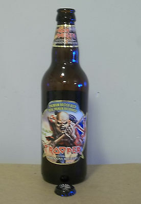Iron Maiden Trooper beer bottle + cap Robinsons Brewery England Bruce Dickinson