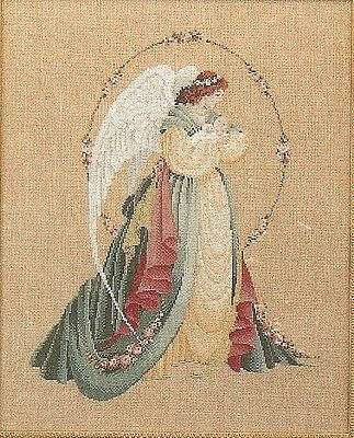 Guardian Angel Lavender & Lace Victorian Designs Cross Stitch Chart Sealed