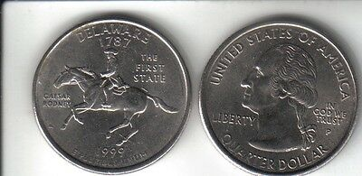 US Quarter dollar State series 1999 DELAWARE 1787 USA 25 cent coin Philly