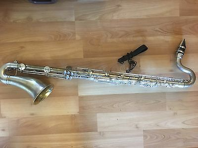Vintage silver metal bass clarinet Guy Humphrey made in France -fresh overhauled