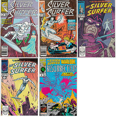 Silver Surfer 5 Issue Mixed Lot – Full 1988 Mini Series+ (1987-93 Marvel Comics)