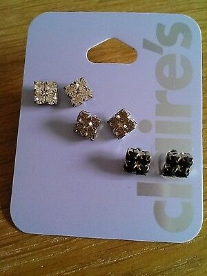 3 pairs ear rings from Claire's. Brand New. Gift item.