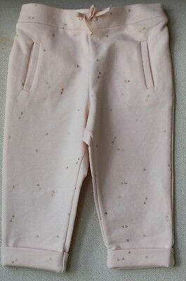 Chloe Baby Pink Gold Bow Print Trousers 12 Months