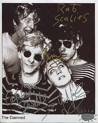 The Damned SIGNED Photo 1st Generation PRINT Ltd 150 + Certificate / 1
