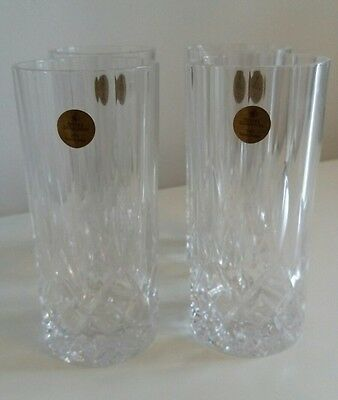 Brand new Royal Doulton lead crystal glasses, set of four