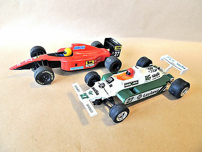 Vintage Hornby Scalextric pair of Cars a Ferrari F1 and a Saudi Williams*