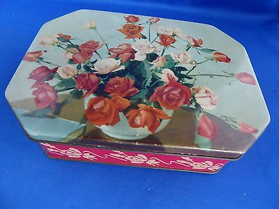 J.S. Fry & Sons Chocolate Tin with Floral Decoration