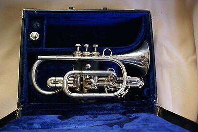 "Nice & rare BESSON ""10 - 10"" model professional cornet! 2 slide triggers! *LOOK*"