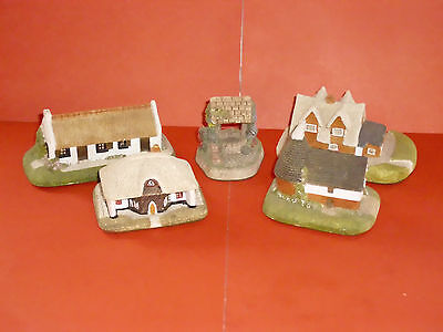 Four Handcrafted Cottages Milestones Collection & David Winter Cameo Cottage