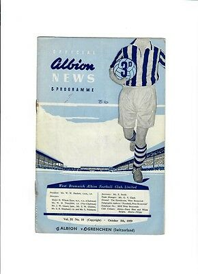 West Bromwich Albion v Grenchen (Friendly) - 05/10/1959