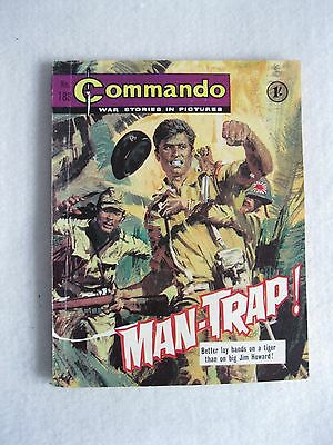 Commando Comic 183 October 1965 Man Trap First Print Very Good for Age Rare