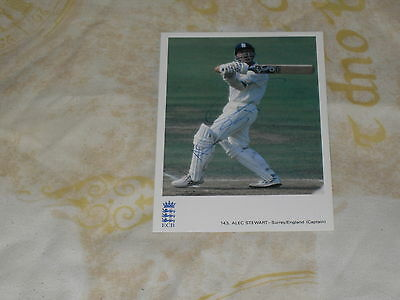 Signed Alec Stewart Classic Cricket Card 143 Ex  England Test Player