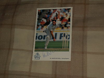Signed Martin Bicknell Classic Cricket Card 25 Ex England Test Player