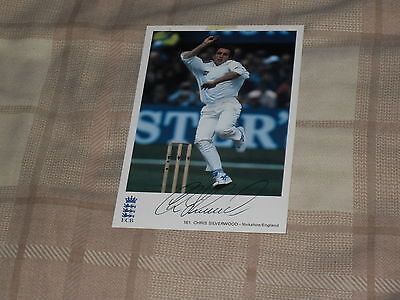 Signed Chris Silverwood Classic Cricket Card 161 Ex England Test Player