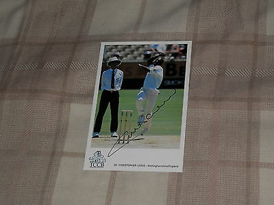 Signed Chris Lewis Classic Cricket Card 30 Ex England Test Player
