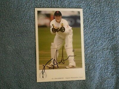 Signed Tim Ambrose Classic Cricket Card 381Ex England Test Player