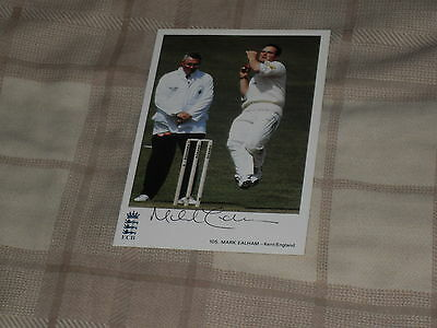 Signed Mark Ealham Classic Cricket Card 105 Ex England Test Player