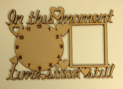 In these moments..Various clock & photo space. Small size, Wood, Family Memories