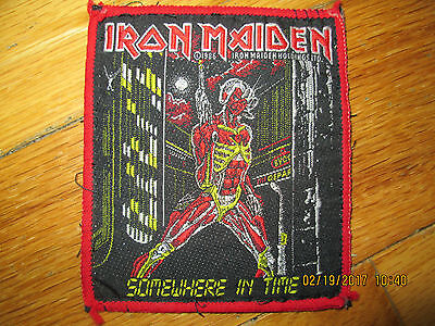 Original Issue 1986 Iron Maiden Somewhere In Time Patch