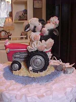 ❤COWS COUNTRY WEDDING CAKE TOPPER TRACTOR ~ Mary's Moo Moos❤ JUST MOO-IED