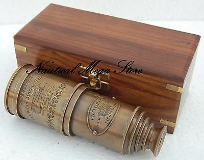 Antique Style Royal Brass Vintage Working Telescope Pirate Spyglass Nautical