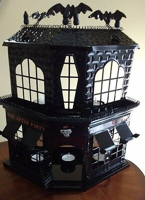 YaNKEE CaNDLE LaRGE BoNEY BuNCH AfTER PaRTY HaUNTED HoUSE 5 TeALIGHT HoLDER NWT!