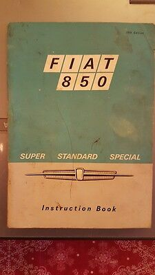 fiat 850 instruction book owners manual handbook