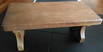 Very Small Antique Foldable Wooden Prayer / Meditation Table / Stand