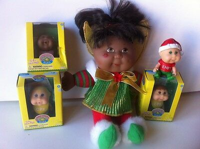 cabbage patch kids Kid Patoufs Noel Christmas Minis Cpk Lot AA doll