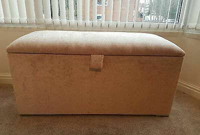 Brand new large ottoman storage box - champagne wood solid strong