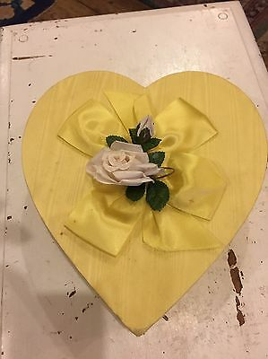 Vintage Fannie May Candy Shops Valentine Candy Box, Heart, Ribbon, USA, Advertis
