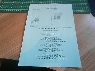08/01/1990   OXFORD UNITED Youth v ARSENAL  Youth - FA YOUTH CUP