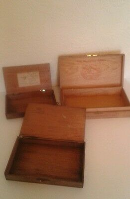 3 Old Cigar Boxes