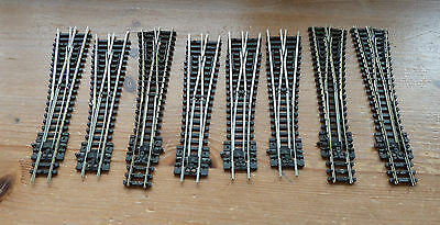Jot lot of 8  Peco points  spares or repair N Gauge