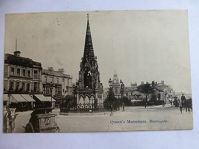 Harrogate Queens Monument - Old Yorkshire Postcard