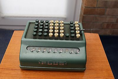"Vintage Adding Machine - ""plus "" From  Bell Punch Company - In Working Order !!"