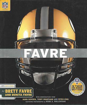 Brett Favre Green Bay Packers Autographed Book FAVRE with DVD