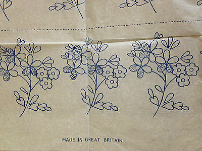 Vintage embroidery transfers floral edging, border