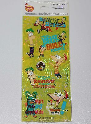 Disney's Phineas and Ferb Hallmark Stickers Sealed Pack 2 Sheets Holographic