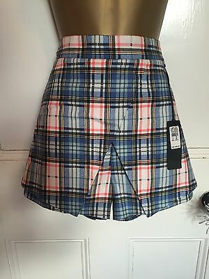 River Island Wrap Over Tartan Shorts Size 12 BNWT