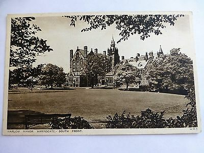 Harrogate Harlow Manor South Front - Old Yorkshire Postcard