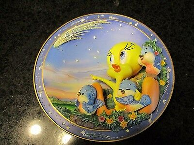 Looney Tunes Decorative Plate No. C1760 Wishing On A Star Tweety Limited 1998