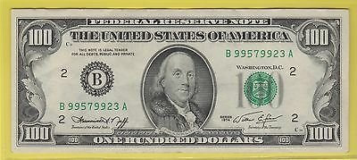 1974 Federal Reserve Note One Hundred Dollar Bill...vf+..$100.00...923