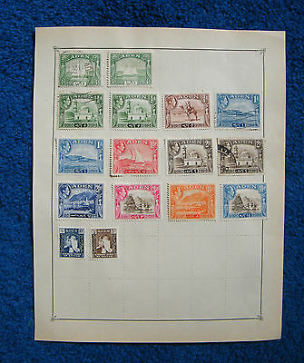 Two Old Album Pages with Aden Stamps.