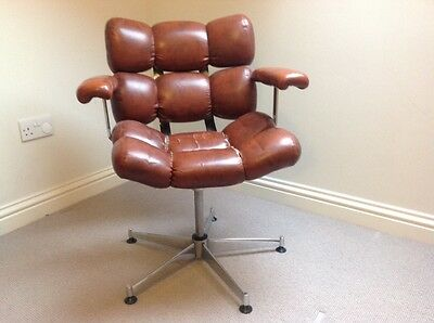 Vintage leatherette barbers/office chair