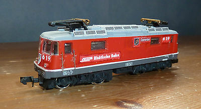 RhB Ge 4/4 II converted Arnold go with Kato Glaicier express N Gauge
